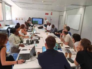 Workday of the EPICA Initiative team at 22 @ headquarters of the UOC